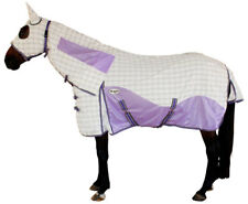 CARIBU HYBRID Attached Hood Horse Rug. Paddock Ripstop & Mesh Inserts. PURPLE