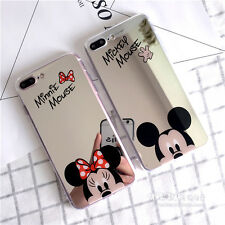Cute Sparkel Mirror Minnie Mickey Mouse Soft Case Cover for iPhone 7 7 Plus 6 6S