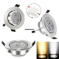 85-265V Warm White Cool White Silver LED Ceiling Recessed Down Light Fixture VGY