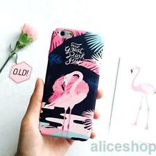 Trendy Beautiful Art Pretty Flamingos Durable PC Case For iPhone 7 7 Plus 6 6S