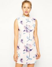 ASOS Pink Floral Shift Tunic High Neck Scuba Dress BNWOT UK 10 US 6 NEW RRP £35