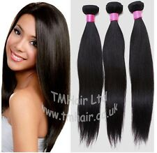 100% BRAZILIAN/PERUVIAN Virgin Human Remy Natural Weft Hair Extensions