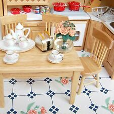 New 1/12 Dollhouse Dining Room Furniture Set 5pcs 1 Dining Table and 4 Chairs
