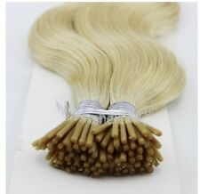 """25 Strands 20"""" 0.8g Stick/I Tip 100% Remy Human Hair Extensions (5A)Free Beads"""