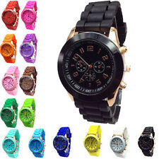 For Women/Ladies/Girls Geneva Silicone Band Quartz Jelly Bracelet Wrist Watches