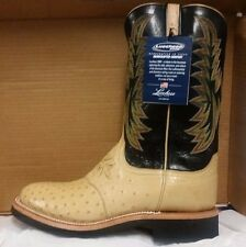 Lucchese 2000 T1069 Tan and black Goat and Ostrich