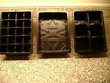 3 TO 50  HALF SIZE SEED TRAYS AND 6 OR 20 CELL HALF SIZE SEED TRAY INSERTS