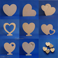 Heart Shapes Various Designs MDF Craft Embellishments 18mm thick