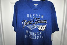 JIMMIE JOHNSON #48 OFFICIAL LICENSED NASCAR T-SHIRT BLUE SIZES MED LG. XL NWT
