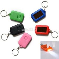 Portable Sun Solar Power 3LED Light Keychain Torch Flashlight Key Ring Useful US