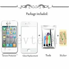 White Front Outer Screen Glass Lens Replacement/Tools Kit for Apple iPhone 4 4S