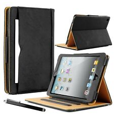 Real Leather Flip Stand Case Smart Wallet Cover For Apple iPad -Air / Mini / Pro