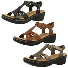 Ladies Clarks Leather Sandals Hayla Flute