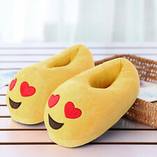 Autumn Winter Man Woman Emotion Plush Footwear Home Indoor Warm Slippers EW