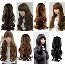 Fashion Lovely Women Girl Wig Long Natural Wavy Curly Hair Cosplay Party Wigs SY