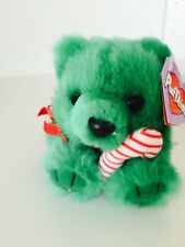 ~Puffkins ~JINGLES the Green Christmas Bear plush toy #6670 by Swibco cute LE