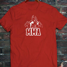 MMA FIGHTING BULL CAGE FIGHT MIXED MARTIAL ARTS Mens Red T-Shirt