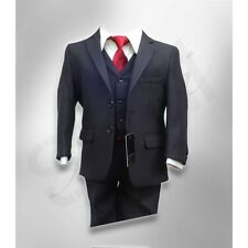 Boys Navy Blue Suits Page Boy Wedding Prom Dark Navy Kids Blue Outfit Suit