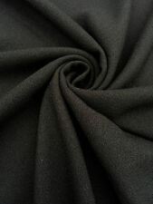 Black Crepe Dressmaking Fabric Material Polyester Texture