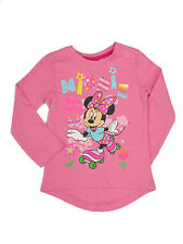 GIRLS DISNEY PINK MINNIE MOUSE LONG SLEEVE TOP