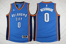 Russell Westbrook Oklahoma City Thunders Mens Blue Swingman Road Jersey