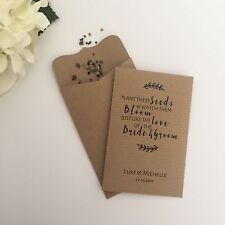 10 Seed Packet Wedding Favour Envelopes Personalised