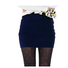 Lady Knitted Mini Short Skirt Bodycon High Elastic Waist Pencil Sexy Stretch New