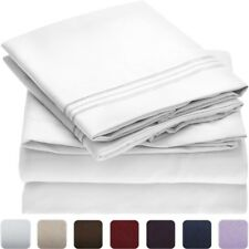 NEW Mellanni 1800 Bed Sheet Set - TWIN - HIGHEST QUALITY 1800 Brushed Microfiber