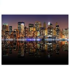 "Brands Canvas picture ""New York Lights Skyline"" ! Classic (4:3) ! New City US"