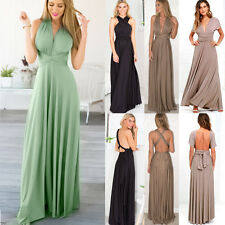 Sexy Women Convertible Multi Way Wrap Evening Party Bridesmaid Maxi Long Dress