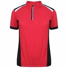 Womens Ladies Cycling Top T-shirt Jersey Bike Running Active Sports Wicking Pink