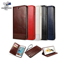 Luxury Leather Flip Wallet Magnetic Stand Case Cover For Apple iPhone & Samsung