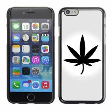 Hard Phone Case Cover Skin For Apple iPhone Marijuana Vector Icon Leaf