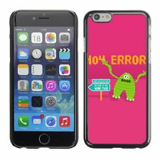 Hard Phone Case Cover Skin For Apple iPhone Angry Monster 404 Error Background