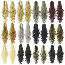 15colors 130g 24'' Long Big Wave Claw Clip In Hair Ponytails Hair Extension