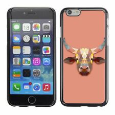 Hard Phone Case Cover Skin For Apple iPhone Triangle Cow Design