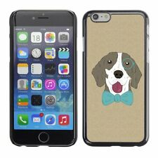 Hard Phone Case Cover Skin For Apple iPhone Hipster Monocle Bow Tie Dog