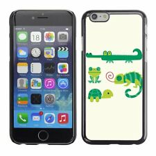 Hard Phone Case Cover Skin For Apple iPhone Green Animals Cartoons