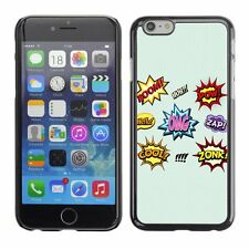 Hard Phone Case Cover Skin For Apple iPhone Comic Book Words Onomatopoeia