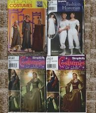 Choice of NIP Simplicity & McCall's Renaissance Civil War Costume Pattern