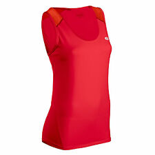 SUGOI JACKIE WOMEN'S SINGLET RED LADIES RUNNING GYM CYCLING SLEEVELESS VEST TOP