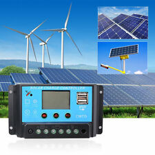 10A-30A 12V/24V LCD PWM Solar Panel Charge Regulator Battery Controller 120-720W