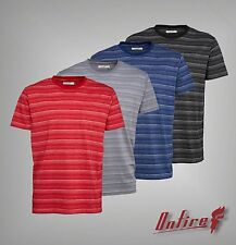 Mens Branded Onfire Casual Short Sleeves Striped Crew Neck T Shirt Size S-XXL