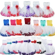 Bridesmaid Girl Wedding Flower Communion Party Dance Prom Princess Pageant Dress