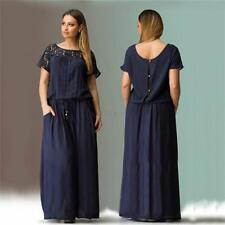 Sexy Women Lady Oversize Evening Gown Party Long Sleeve Dress Plus Size Dress
