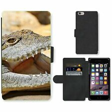 Phone Card Slot PU Leather Wallet Case For Apple iPhone Crocodile