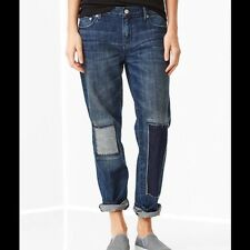 GAP 1969 WOMEN'S SEXY BOYFRIEND PATCH & REPAIR JEANS  FALL14 SOLD OUT S/982086