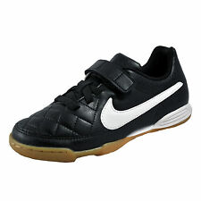 Nike Tiempo VF Junior Kids Boys Football Trainers Black