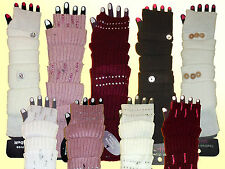 fashionable Arm warmers Hand Gauntlets fingerless Long Gloves Arm warmer wool