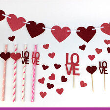 Valentines Day Tableware - Valentines Day Accessories Party Straws Cake Toppers